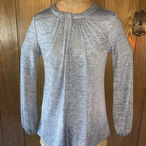 Shimmery Gray Modest Top Long SleevesW/elastic